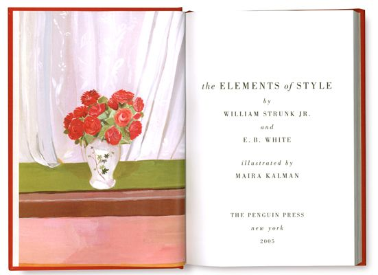 inside cover The Elements of Style illustrated