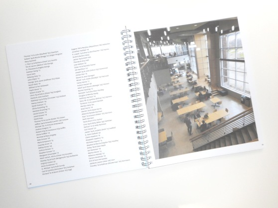 Campus Center dedication booklet, interior 2