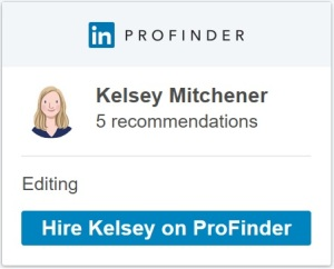 Kelsey Mitchener on LinkedIn ProFinder - editing professional