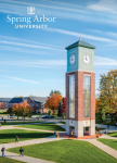 Spring Arbor University Viewbook 2018 edited by Kelsey Mitchener